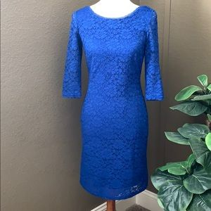Eliza J Cobalt Blue Lace Dress size 4